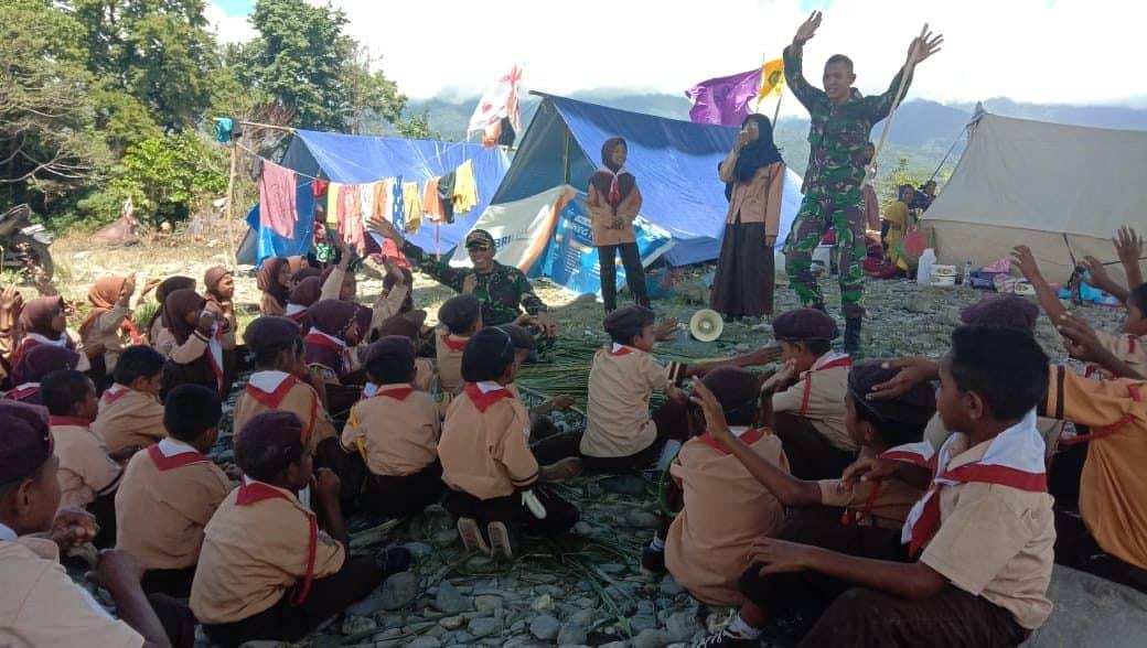 Latih Pramuka, Satgas Yonif RK 136 Bentuk Sikap Generasi Muda Maluku