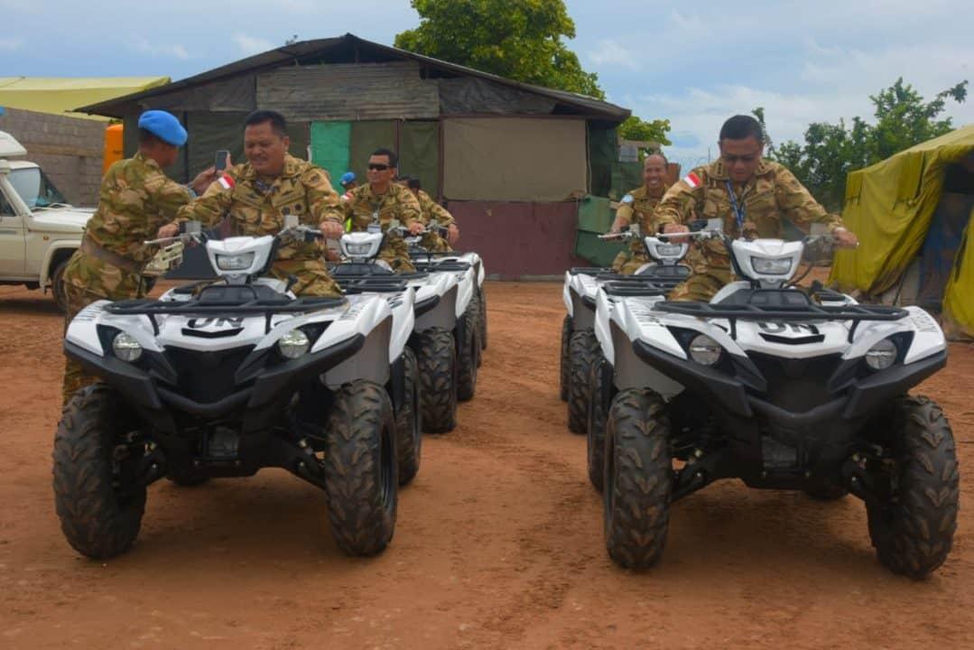 Kunjungi Satgas Indo RDB MONUSCO, Asops Kasad Tinjau CIMIC di Amisi Village