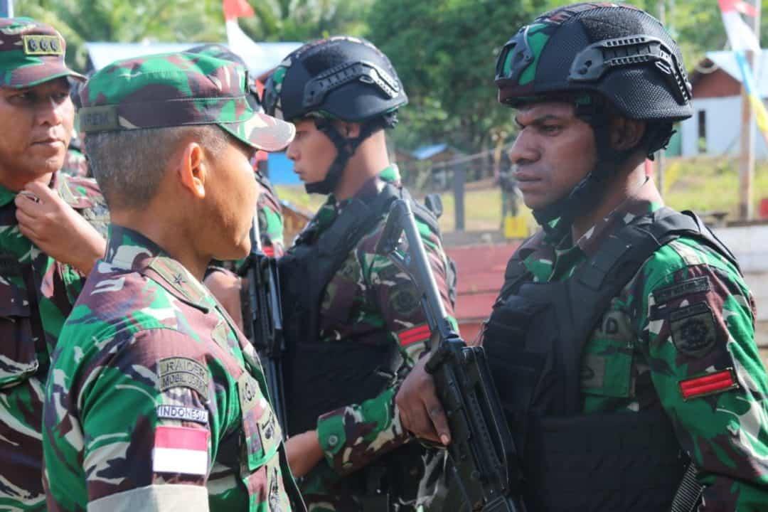 Motivasi Prajurit, Danrem 174/ATW Kunjungi Satgas Pamtas Yonif MR 411/PDW Kostrad