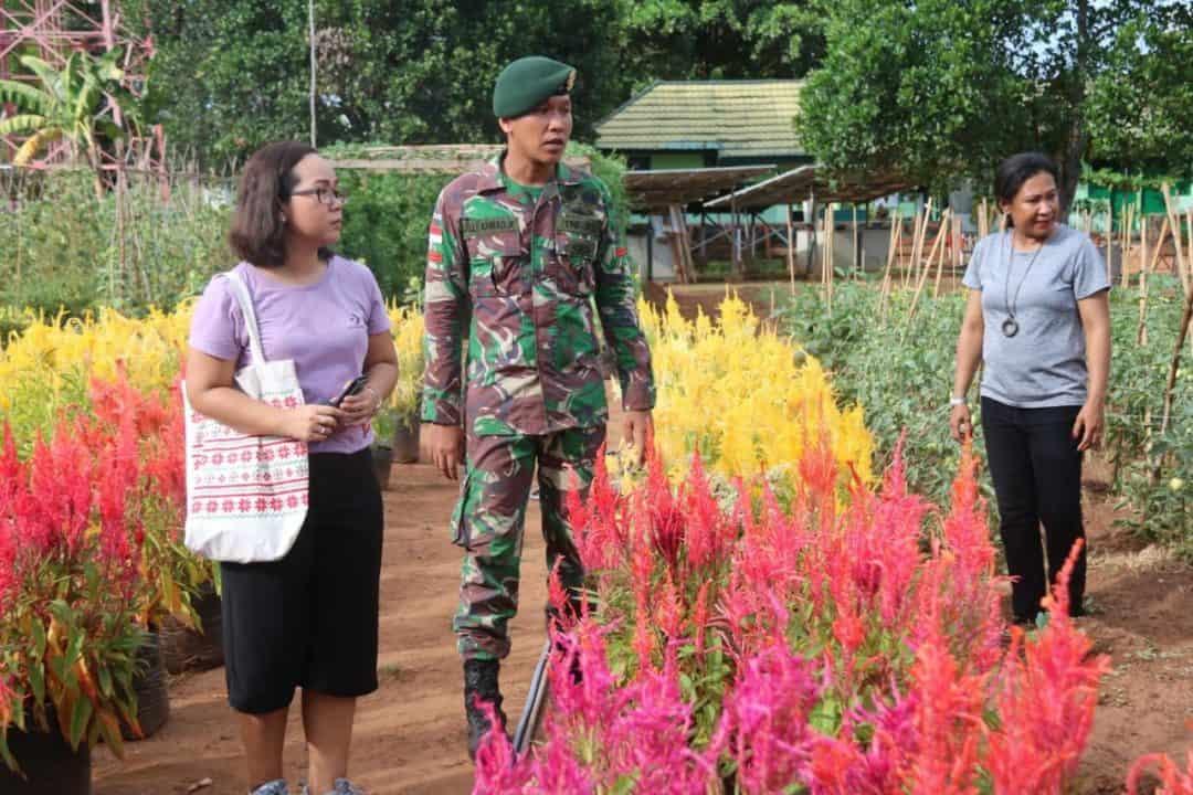 Kebun Bunga Satgas Yonif 411, Alternatif Wisata Diperbatasan RI-PNG
