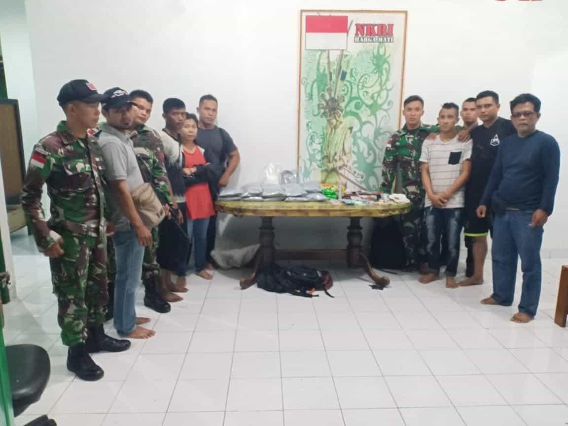 Di Perbatasan RI-Malaysia, Satgas TNI Gagalkan penyelundupan 51,9 Kg Sabu