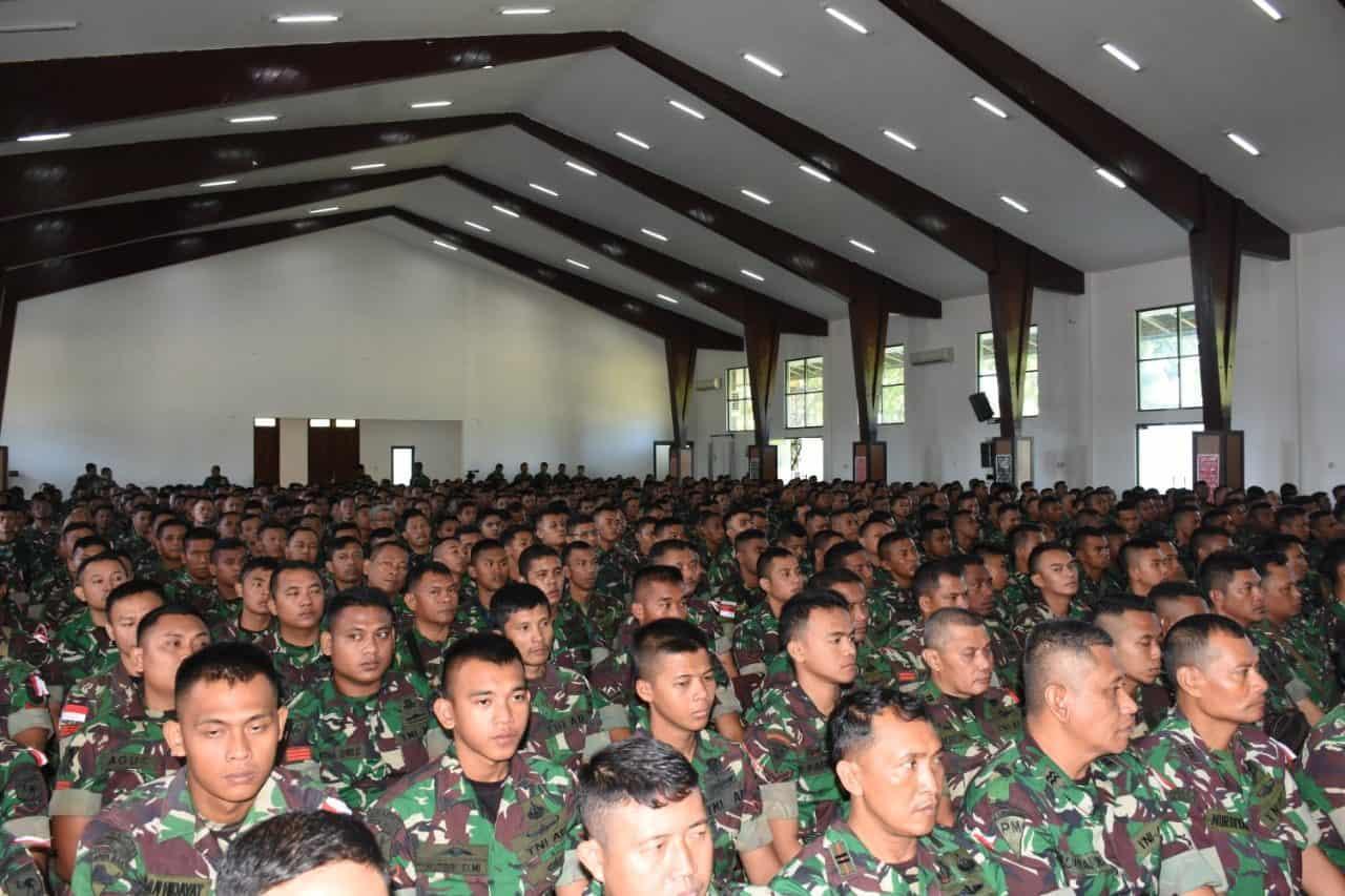 700 Prajurit BKO Koramil Persiapan Kodam Kasuari Terima Pembekalan