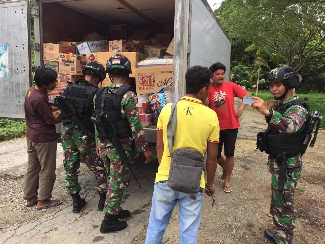 Pastikan Tahun Baru Aman, Satgas Yonif R 300 Gelar Pemeriksaan di Perbatasan RI-PNG