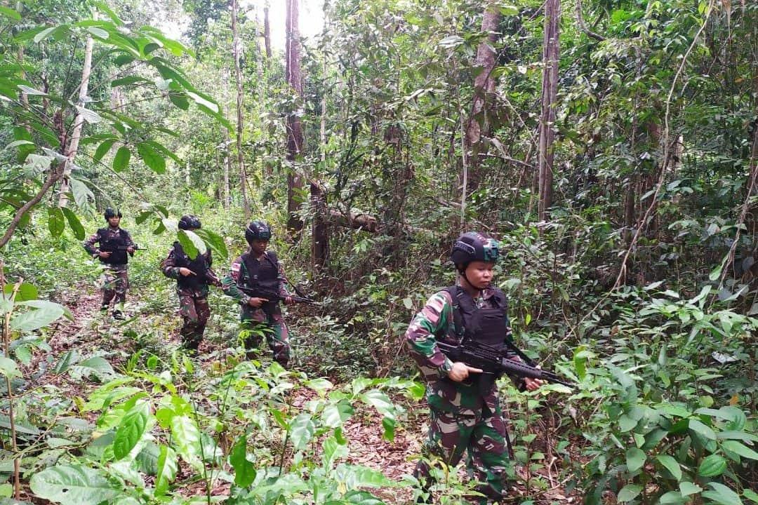 Rawan Penyelundupan, Satgas Yonif 411 Tingkatkan Patroli Di Perbatasan RI-PNG