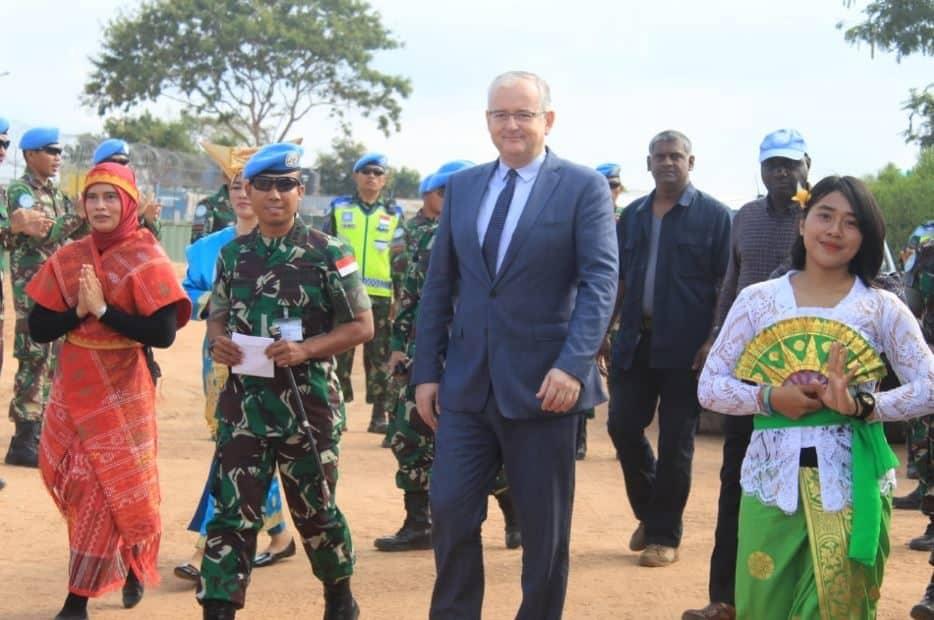 Wasekjen PBB Tinjau Satgas Indo RDB MONUSCO di Soekarno Camp Kalemie Tanganyika Kongo
