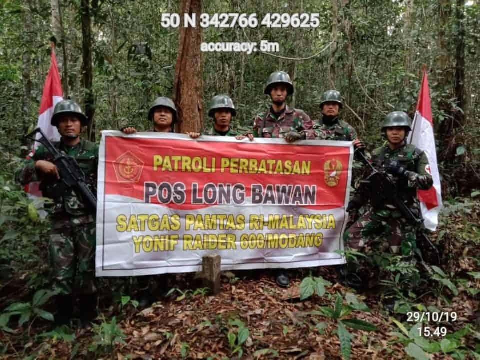 20 Hari Patroli, Satgas Yonif 600 Pastikan Keamanan 496 Patok Blank Post