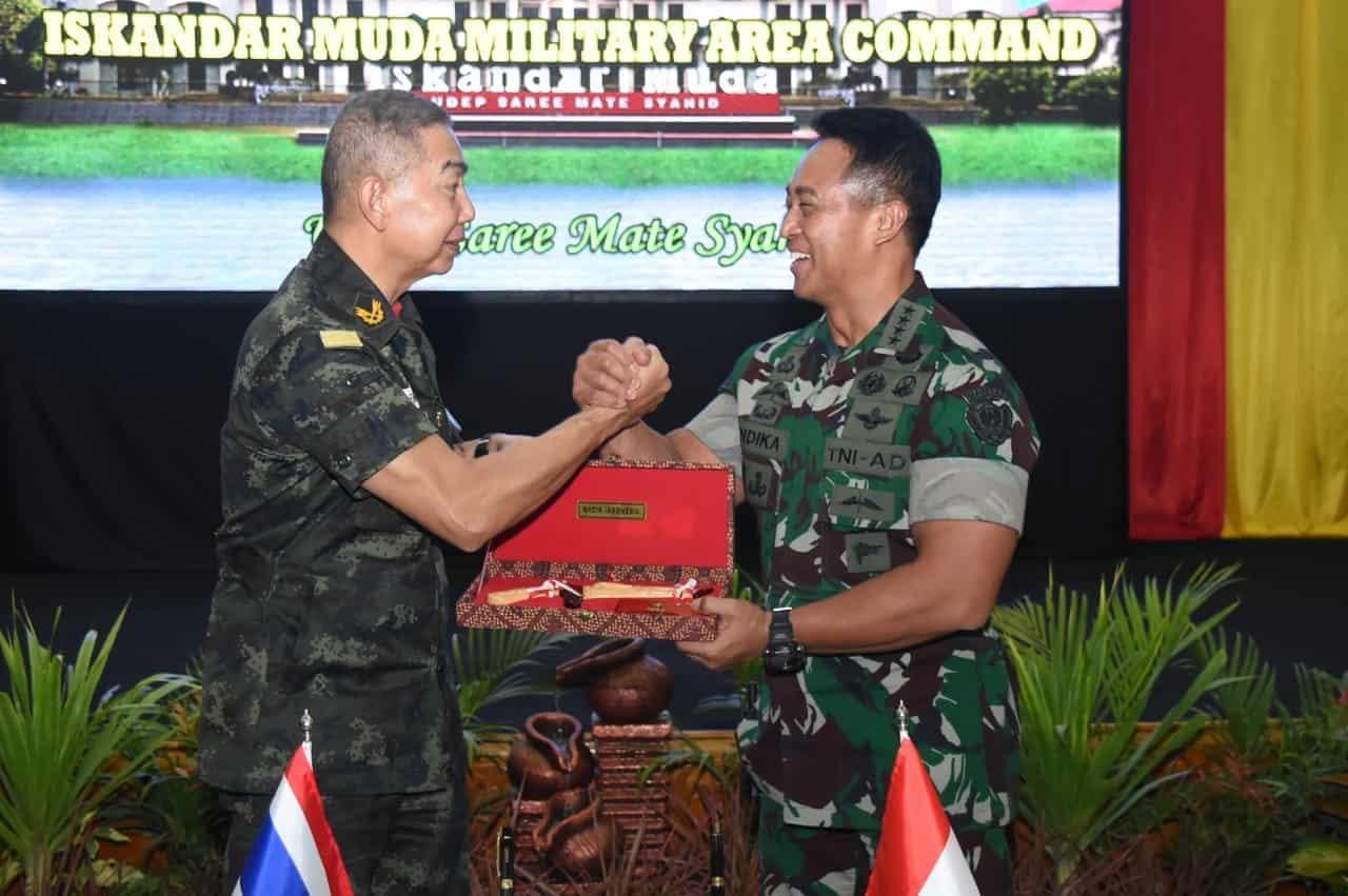 Bangun Kerja Sama AD Kedua Negara, Panglima AD Kerajaan Thailand Berkunjung ke Makodam Iskandar Muda