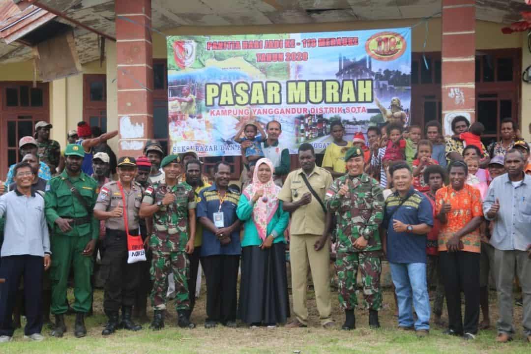 Pasar Murah Satgas Yonif 411 Ringankan Beban Hidup Warga Papua