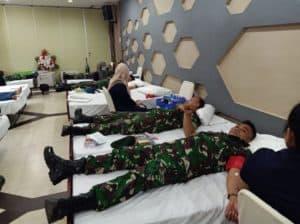 Donor Darah, Satgas Yonif 509 Peduli Warga Perbatasan