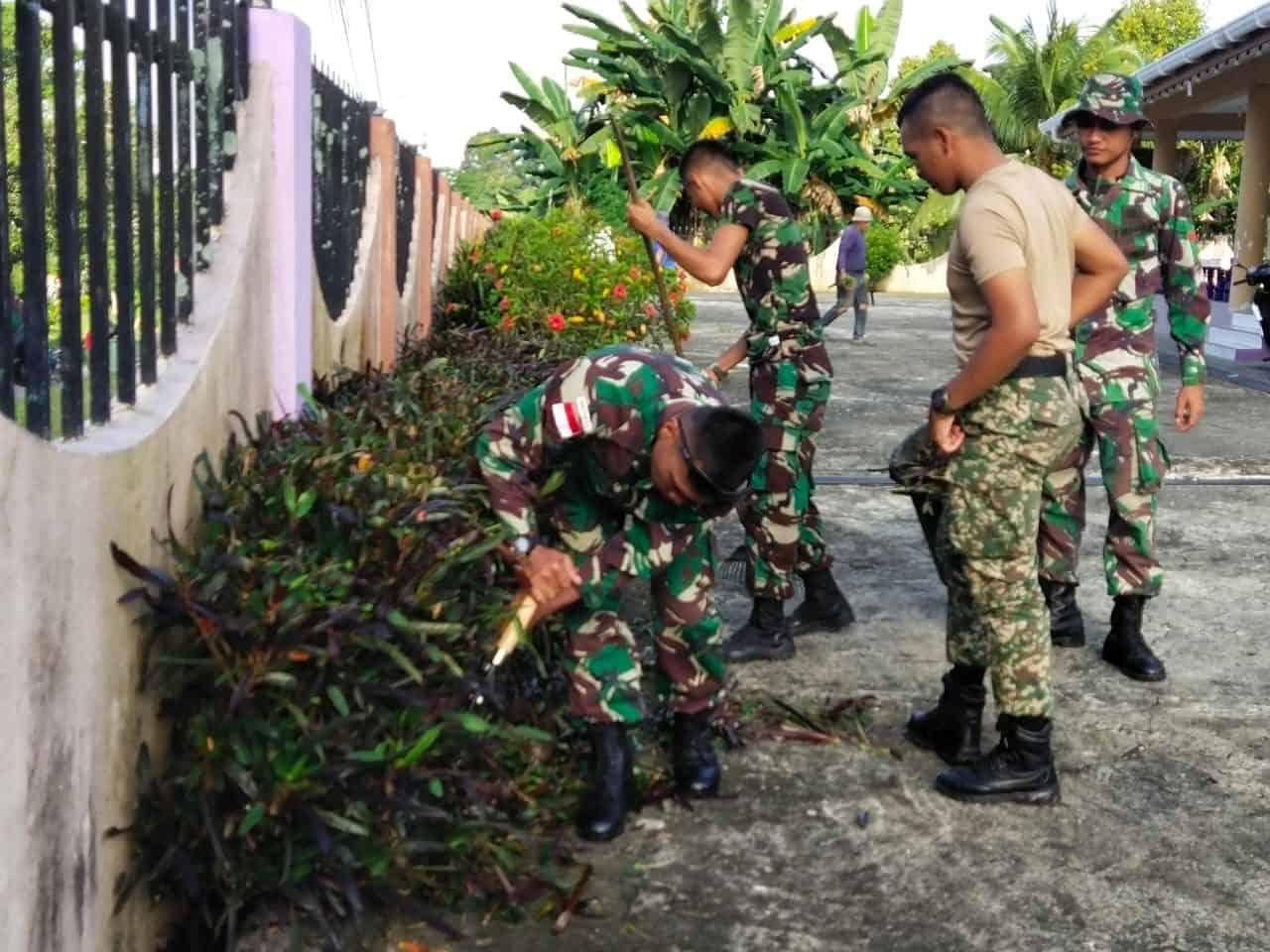 Karya Bakti Satgas Yonif 133 dan RAMD 13, Pererat Persaudaraan TNI AD-TDM