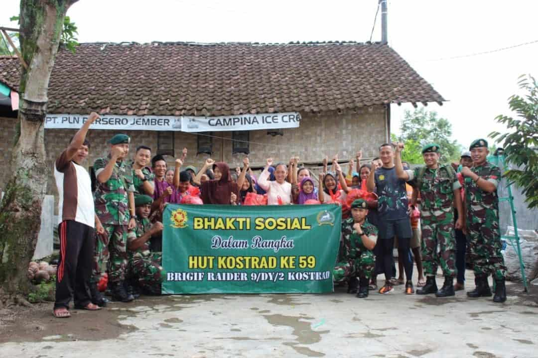 Wujud Syukur, Brigif Raider 9 Salurkan Sembako ke Warga Tidak Mampu