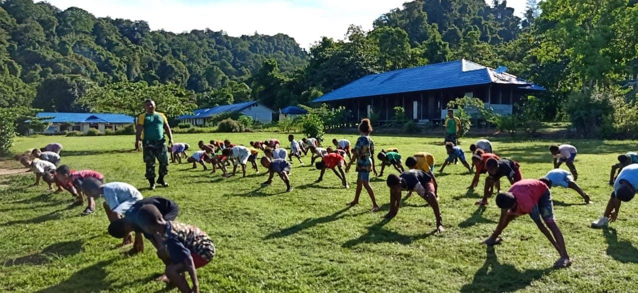Olahraga Tradisional, Satgas Yonif 754 Tumbuhkan Semangat Anak Papua