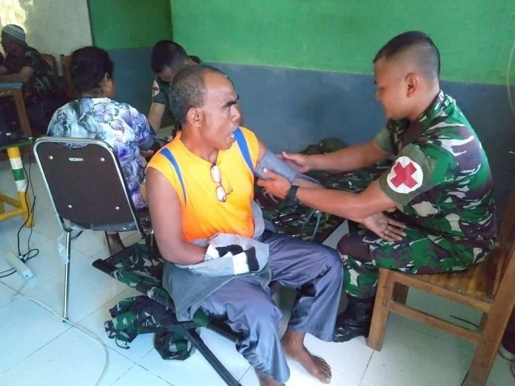 Pelayanan Kesehatan Gratis, Dedikasi Satgas Yonif 132 Untuk Warga di Perbatasan RI-RDTL