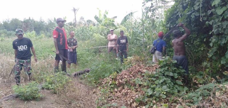 Utamakan Persaudaraan, Satgas Yonif 300 Mediasi Warga Papua Selesaikan Sengketa Tanah Adat