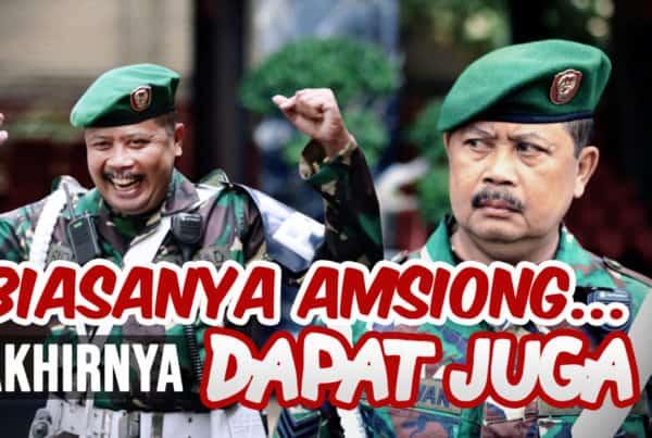 Biasanya Amsiong, Akhirnya Dapat Juga   BULETIN TNI AD
