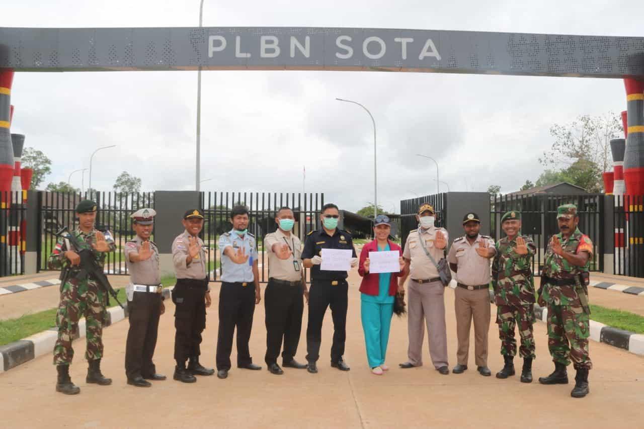 Cegah Corona Di Perbatasan RI-PNG, Satgas Yonif 411 Gelar Sosialisasi
