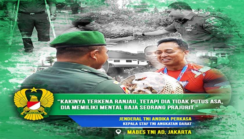 Penghargaan untuk Kesatria I Serda Mugiyanto