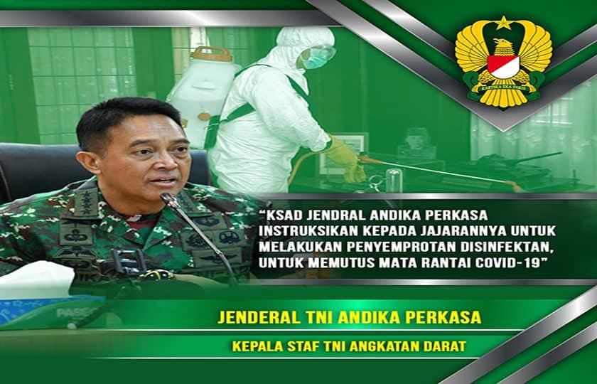 Memutus Mata Rantai COVID-19, KASAD Instruksikan Penyemprotan Disinfektan di 5 Museum TNI AD