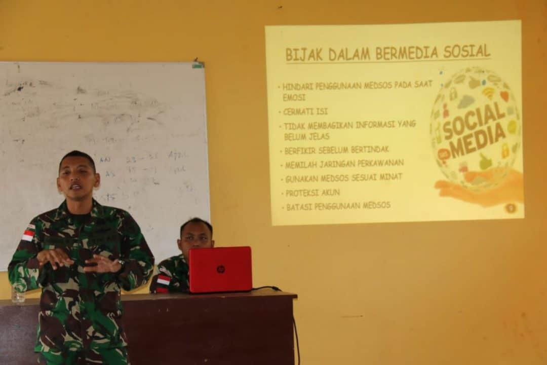 Bentengi Masa Depan Papua, Satgas Yonif MR 411 Ajak Bijak Bermedsos