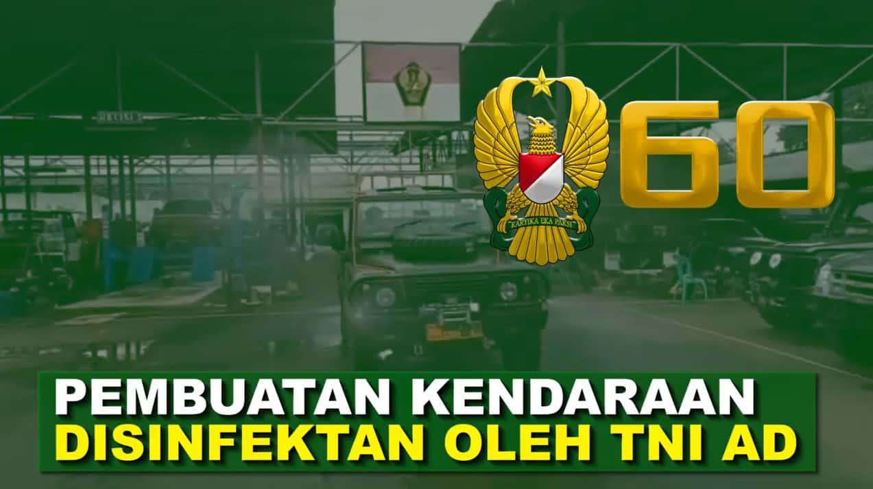 TNI AD Siapkan Kendaraan Penyemprotan Disinfektan Covid-19