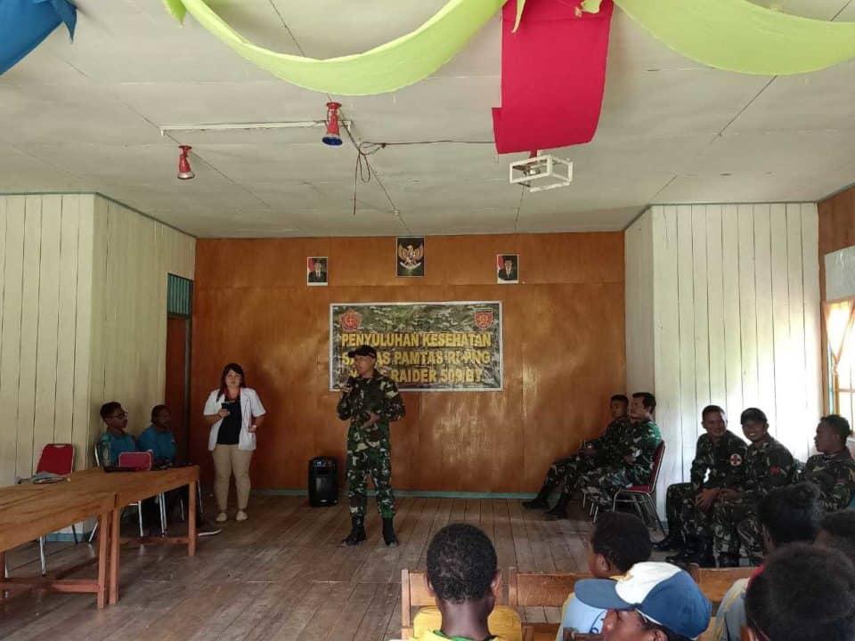 Siapkan Generasi Muda Papua Sehat dan Unggul, Satgas Yonif R 509 Gelar Penyuluhan
