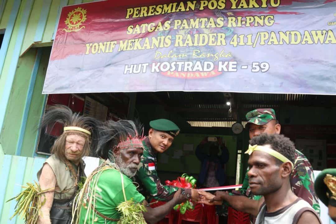 Hibah Tanah dan Pos Satgas Yonif MR 411, Kado Istimewa Suku Kanum Untuk TNI AD