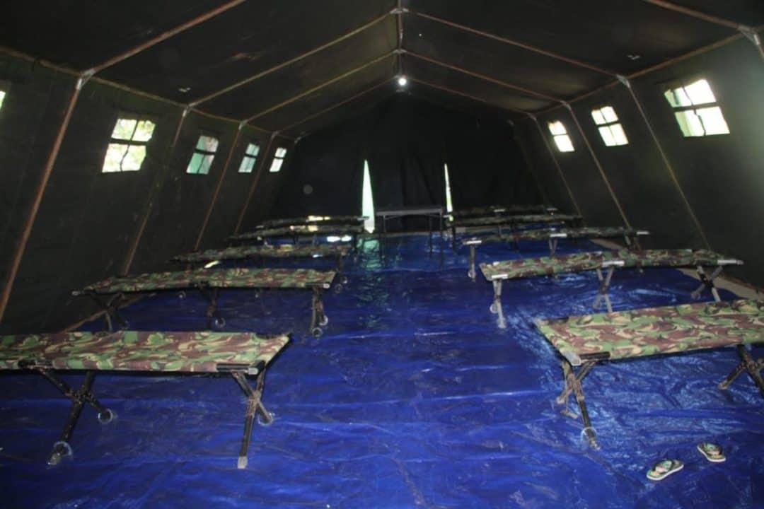 Antisipasi Virus Covid-19, Korem Gorontalo Dirikan Tenda Isolasi