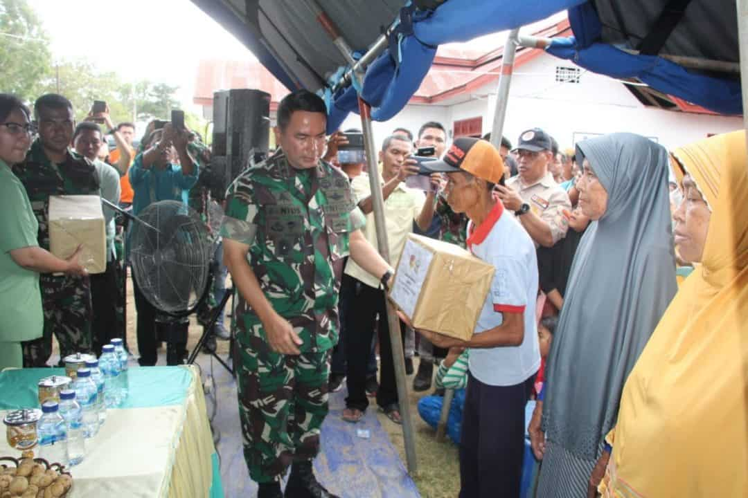 Safari Kasih Pangdam XIII/Mdk, Ringankan Beban Korban Banjir Gorontalo