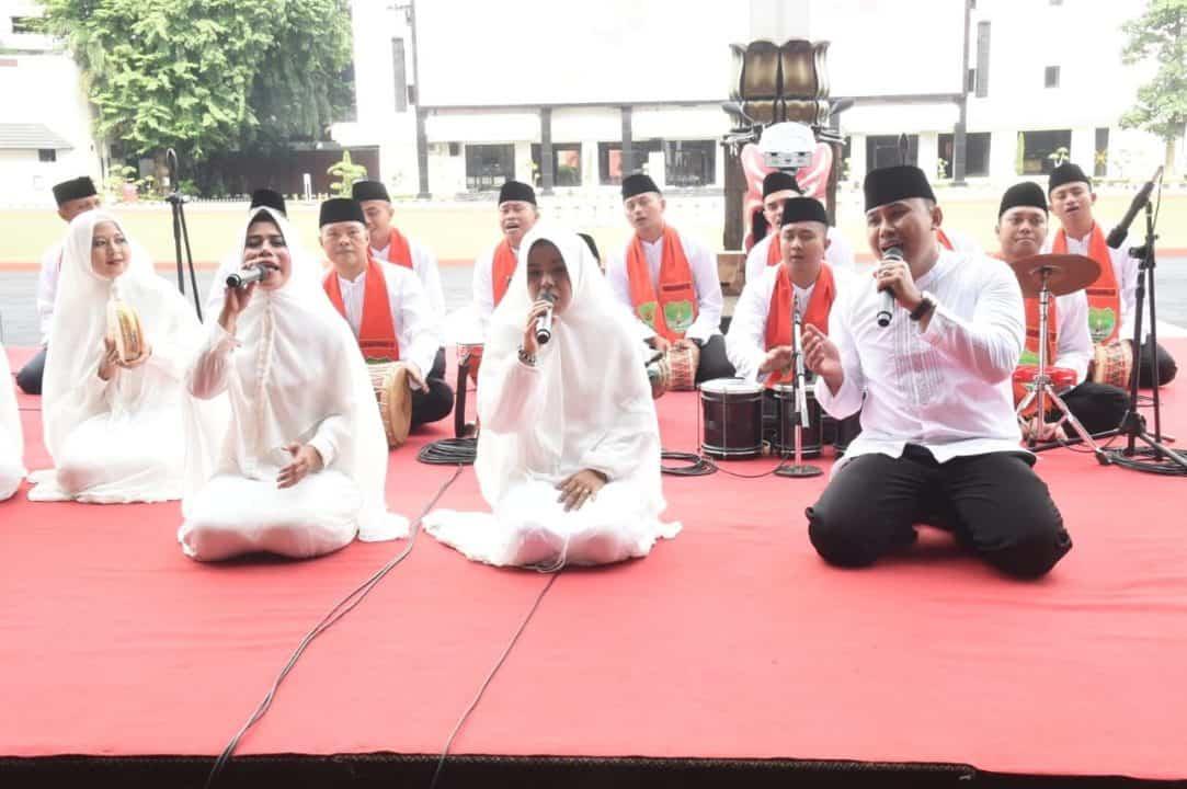 Pernah Tampil di Hadapan Presiden, Marawis Kodam Jaya Buka Rangkaian HUT ke-74 Persit KCK
