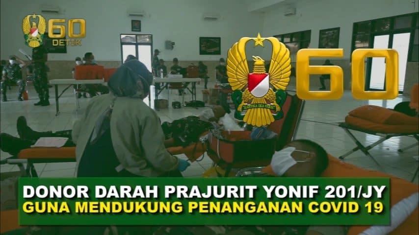 Prajurit Yonif 201 Gelar Donor Darah untuk Penyediaan Stok PMI