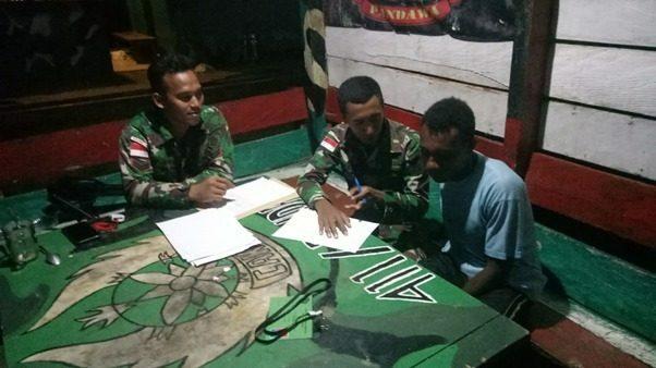 Wujudkan Mimpi Pemuda Papua, Satgas Yonif 411 Latih Yusuf Roni Kabarjay