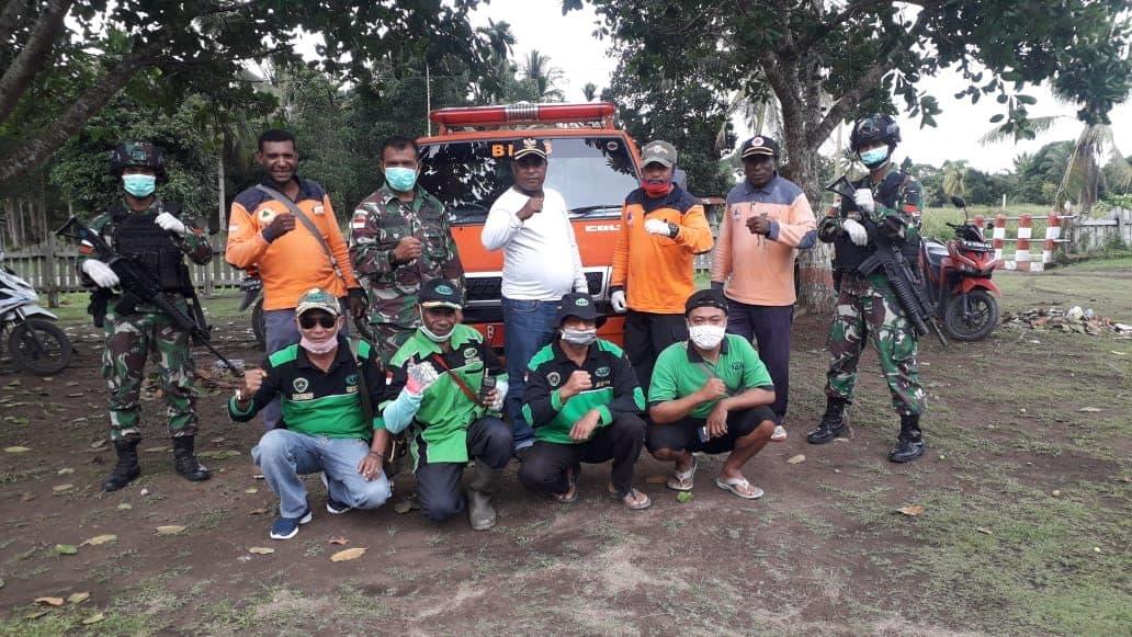 Satgas Yonif 754 Kostrad dan Warga Bersatu Cegah Corona di Papua