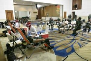Stok PMI Menipis, 750 Personel Kodiklatad Donorkan Darah