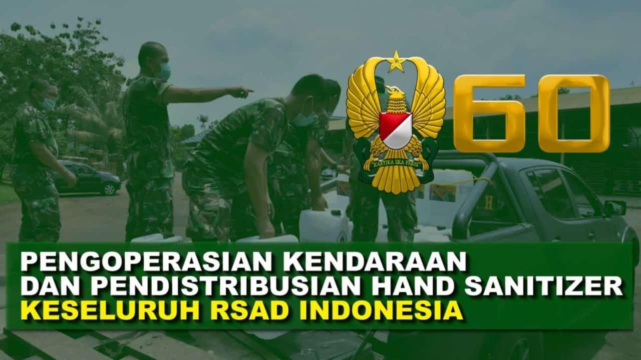 Pengoperasian Kendaraan dan Pendistribusian Hand Sanitizer ke Seluruh RSAD