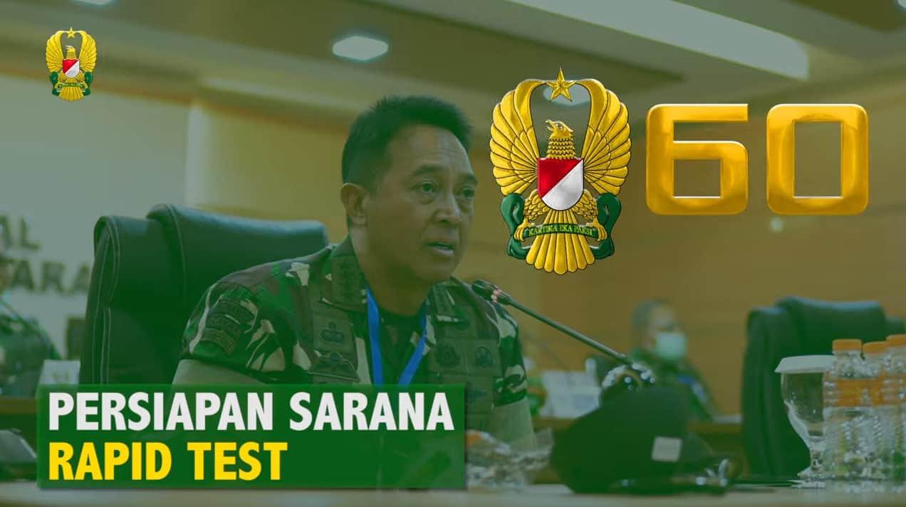TNI AD Mempercepat Penyiapan Laboratorium Rapid Test di RSPAD