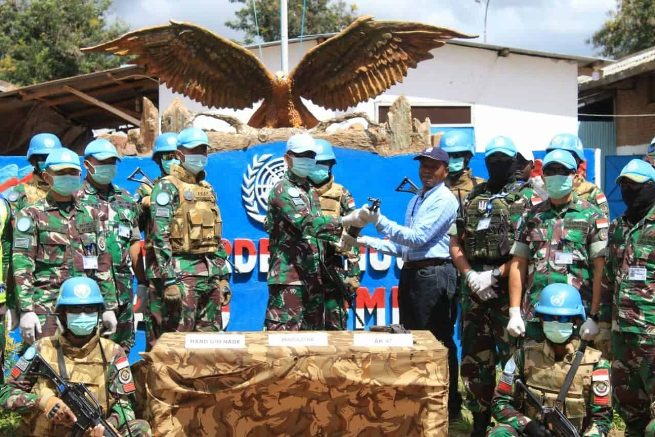 CIMIC Satgas Indo RDB MONUSCO, 3 Eks Kombatan Serahkan Diri