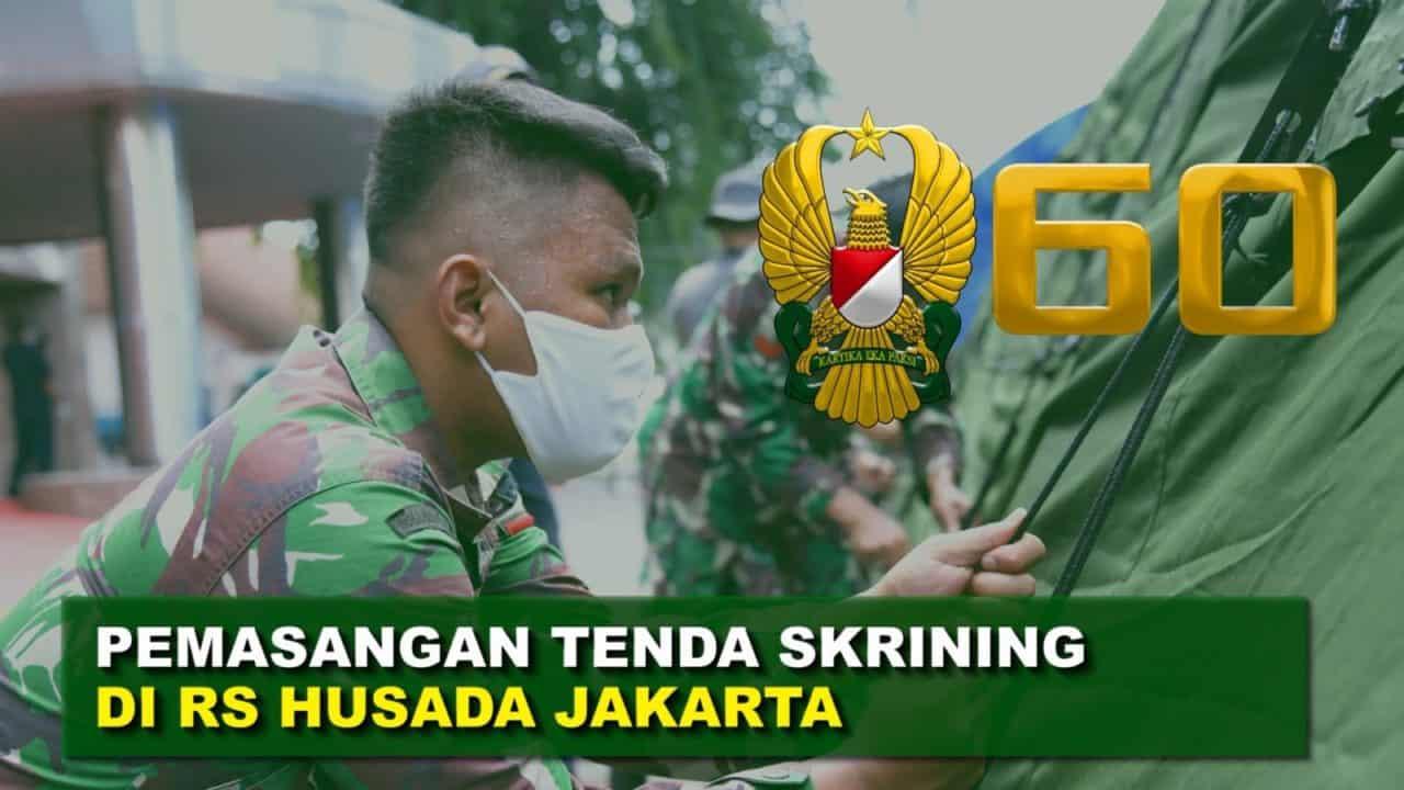 "TNI AD Berikan Bantuan Tenda Darurat untuk RS Husada | 60"" TNI AD"