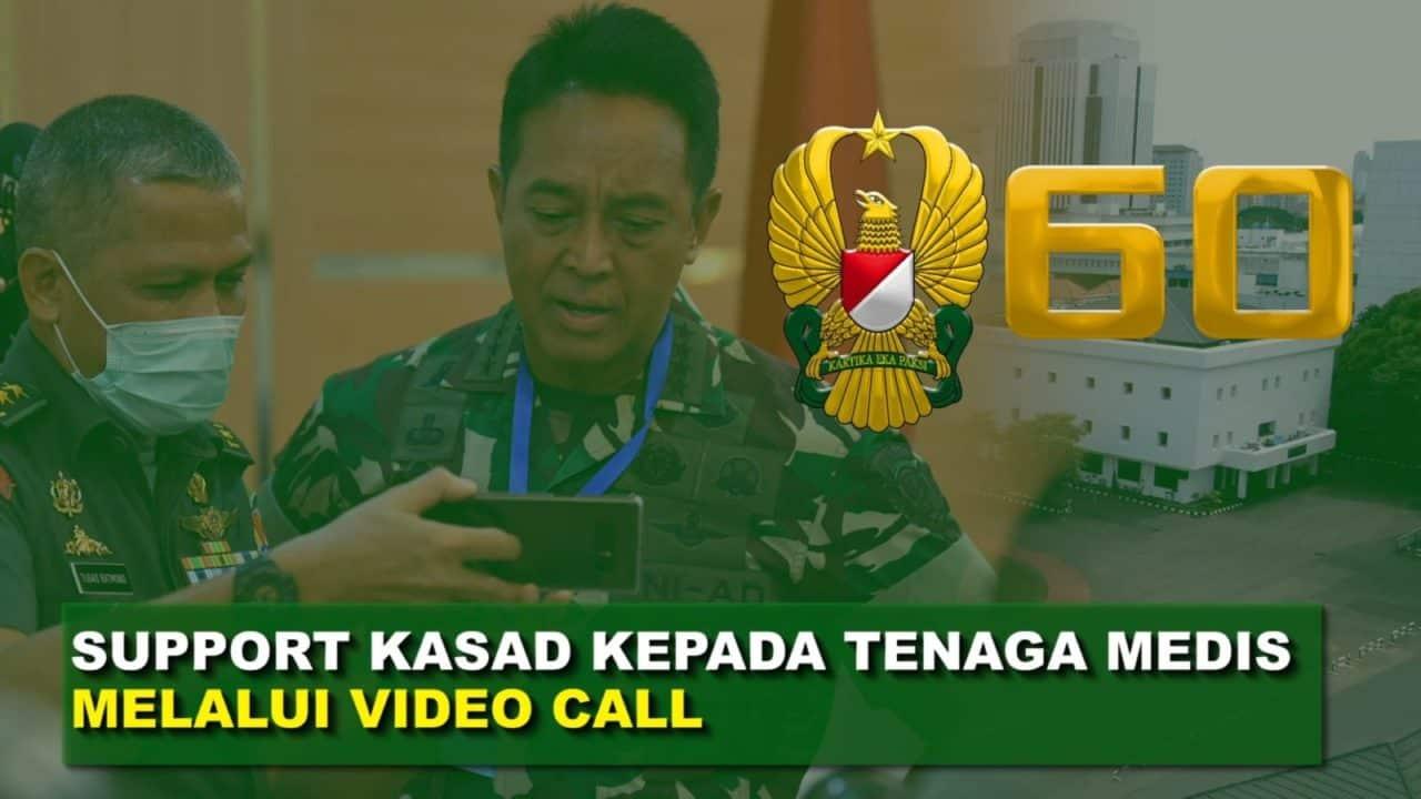 "Jenderal TNI Andika Perkasa Berikan Support Tim Medis RSAD Cimahi Lewat Video Call I 60"" TNI AD"