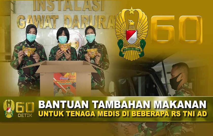Bantuan Tambahan Makanan untuk Tenaga Medis RS TNI AD I  60″ TNI AD