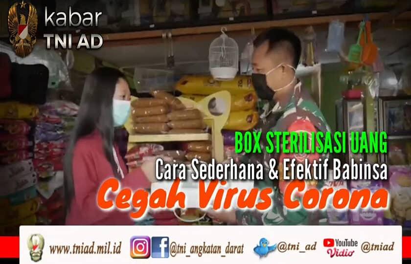Box Sterilisasi Uang, Cara Sederhana & Efektif Babinsa Cegah Corona