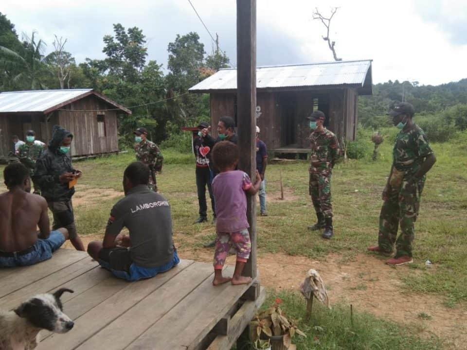 Sadar Bahaya Corona, Satgas Yonif R 509 Budayakan Hidup Bersih di Papua