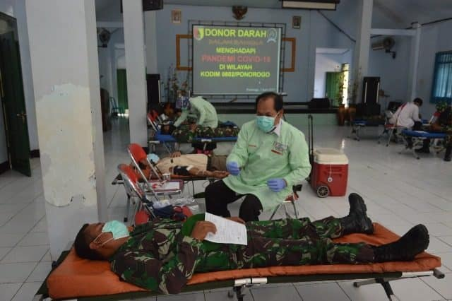 Donor Darah Kodim 0802, Antisipasi Stok di PMI Ponorogo