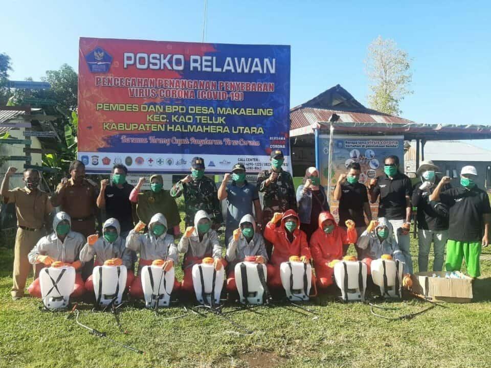 Relawan Tanggap COVID-19, Manunggal TNI-Rakyat di Halmahera