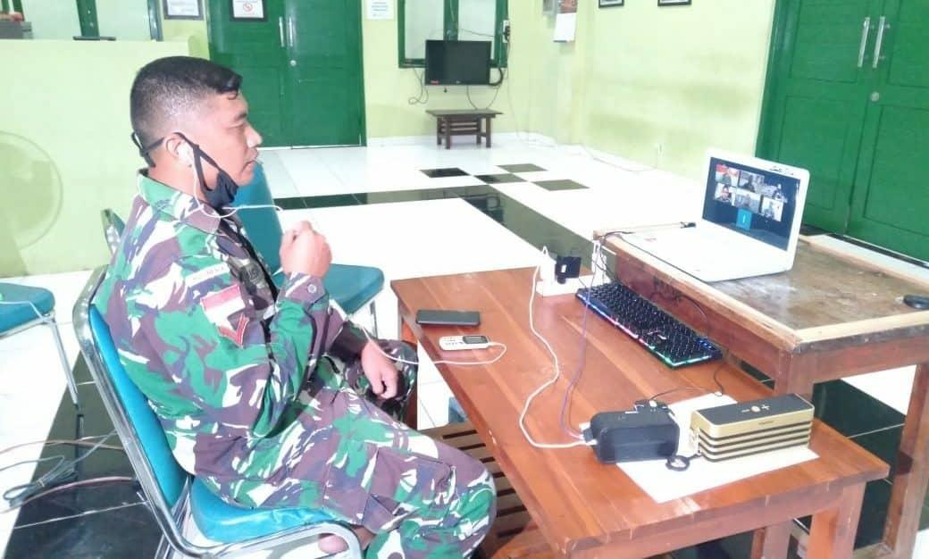Obati Rindu Keluarga, TNI AD-MNC Gelar Lebaran Virtual Satgas Yonif 142