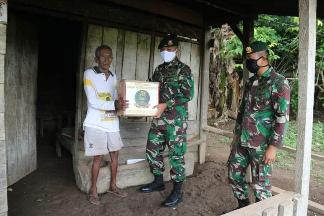 Bansos Sembako, Tali Asih Satgas 411 Bagi Warga Pra Sejahtera Papua