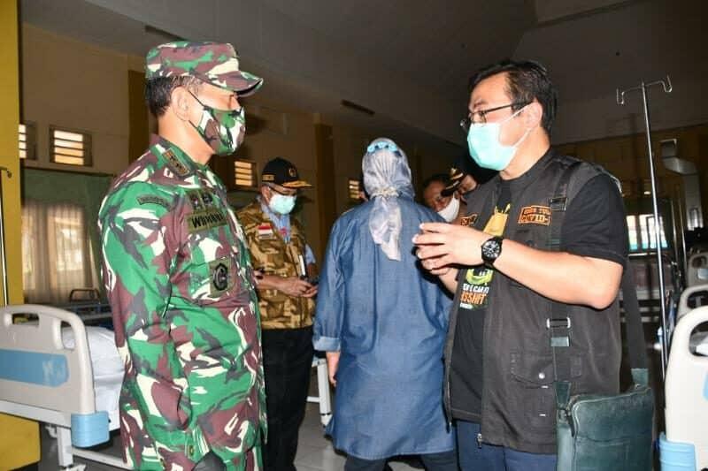 Jamin Siap Operasional, Pangdam V/Brw Cek RS Darurat Covid-19