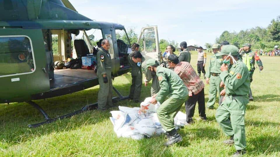 Atasi Kesulitan Beras, Kodam XII/Tpr Gunakan Helly di Bengkayang
