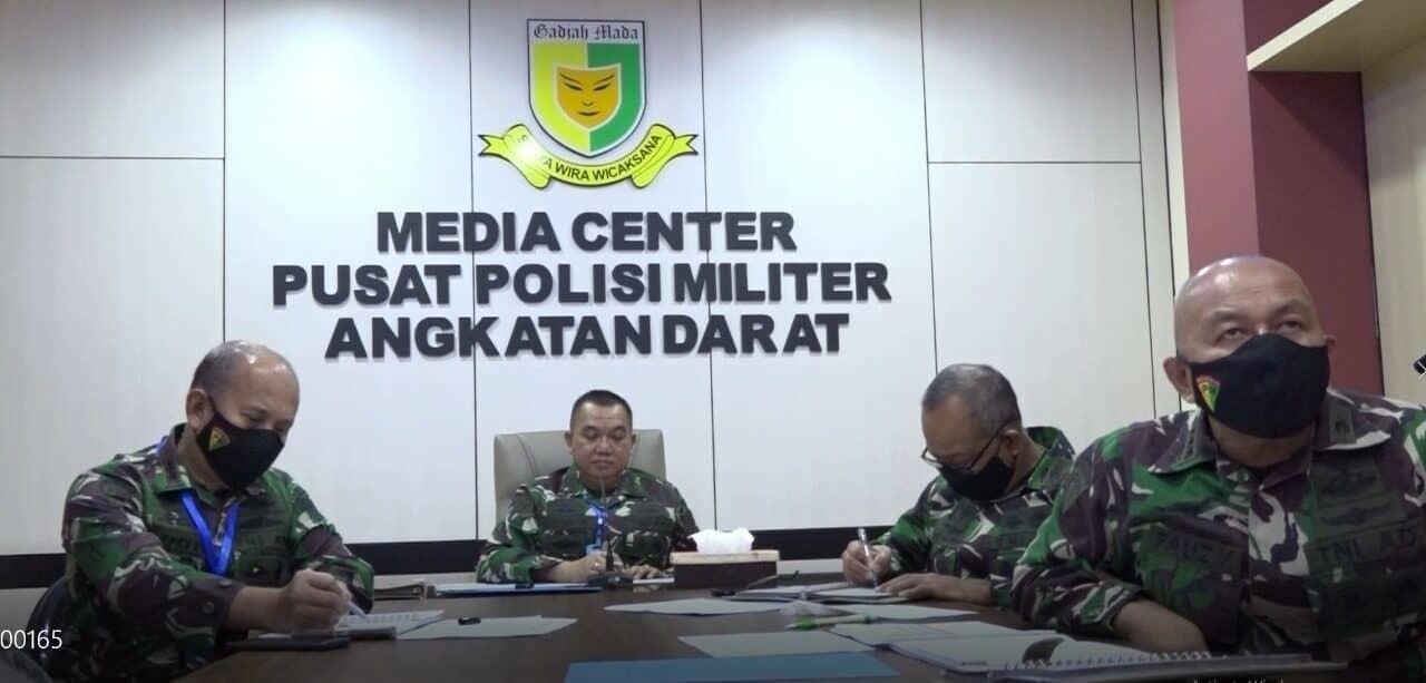 Virtual, Danpuspomad Sapa Anggota Polisi Militer Sembuh Covid-19