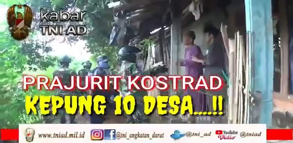 Prajurit Kostrad, Kepung 10 Desa I Kabar TNI AD