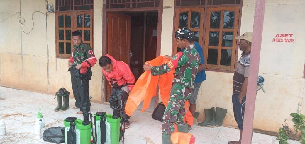 Putus Mata Rantai Covid-19 di Papua, Satgas Yonif 406 Disinfektan Boven Digoel